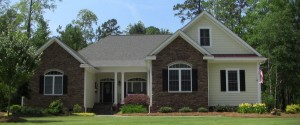 Eastern NC Custom Built Home with Brick and Vinyl Siding