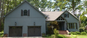 Eastern NC Custom Built home with Blue Exterior and 2 car garage