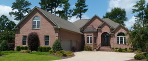 Eastern NC Custom Built Home with brick facade and side entry 2 car garage